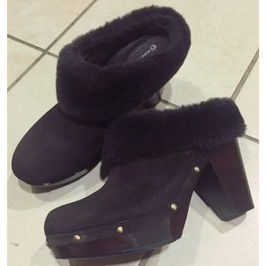 Leather Suede Clogs by Rockport